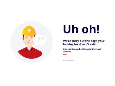 Uh-oh! 403 Error page Illustration design ui illustration 403 error page