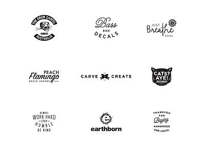 Logo collection type vector lettering illustration typography custom branding logo