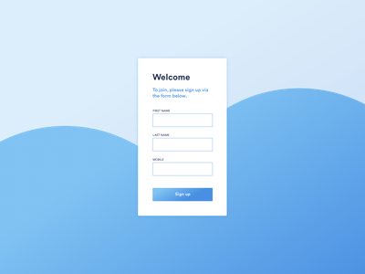 Daily UI Challenge #001 Sign up form forms type branding ux design ui design ui onboarding signup dailyui