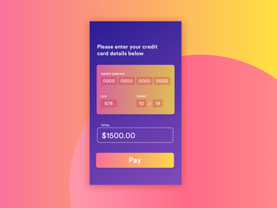 Daily UI Challenge #002 Credit Card button credit card payment app colour type ui  ux creditcard checkout payment ui dailyui