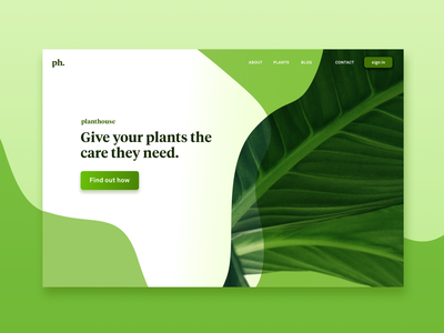 Daily UI Challenge #003 Landing page onboarding lettering ux  ui ux icon vector plant ui design branding typography illustration daily 100 dailyui