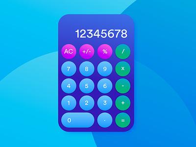 Daily UI Challenge #004 Calculator maths custom color calulation numbers ux design uidesign ui design ui dailyui