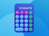 Daily UI Challenge #004 Calculator