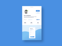 Daily UI Challenge #006 Social profile