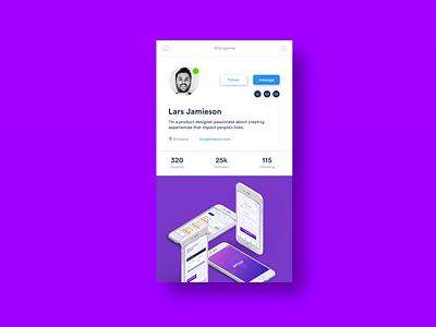 Daily UI Challenge #006 Social profile socialprofile custom vector ux design uidesign social app ui dailyui
