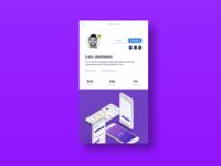 Daily UI Challenge #006 Social profile