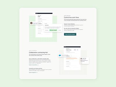 Homepage product spotlight ui figma layout design web design screenshots product marketing