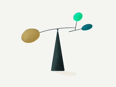 Balance texturee illustrator spot illustration illo balance illustration