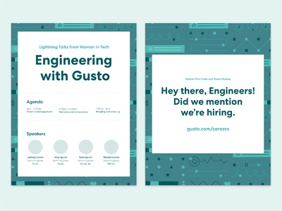 Engineering at Gusto Posters