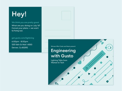 Engineering with Gusto Postcard Invitation
