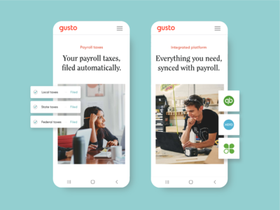 Mobile Product Pages | Gusto