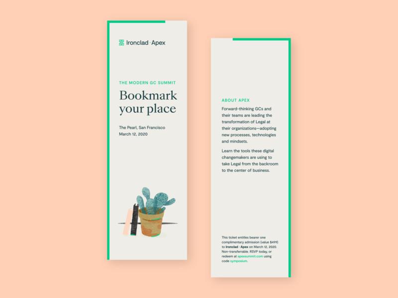 Ironclad | Bookmark Invitations conference typography illustration print bookmark brand dresign branding print design