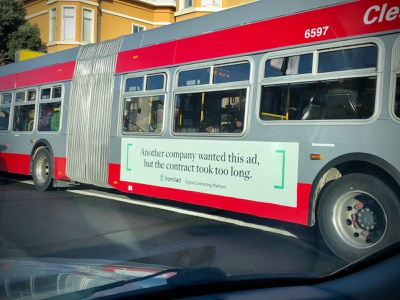 Ironclad OOH Ad in the Wild! advertisment advertising ad in the wild bus king bus ooh
