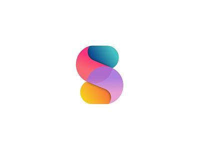 A series of circles mobile app, logo design symbol s logo symbol icon mark pastel gradient app logo logo
