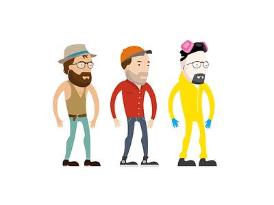 Character Mockups man male avatar character gloves heisenberg beaking bad walter white glasses hat beard