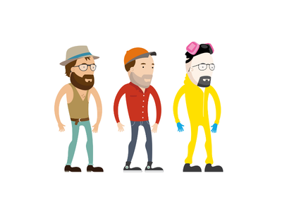 Character Mockups man male avatar character gloves heisenberg beaking bad walter white glasses hat beard