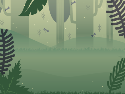 The Jungle! Mobile App Background forrest background bugs trees jungle