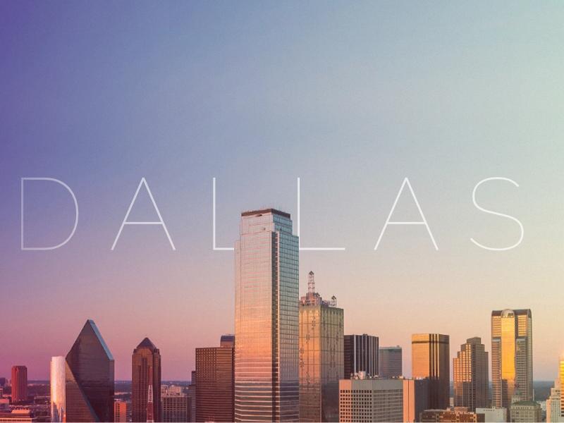 Dallas city banner skyscraper buildings website header banner gradient city dallas