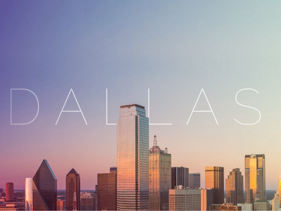 Dallas city banner skyscraper buildings website header banner gradient city dallas