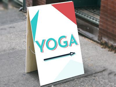 Sandwich Board Street Sign arrow business studio poster sign sandwich yoga