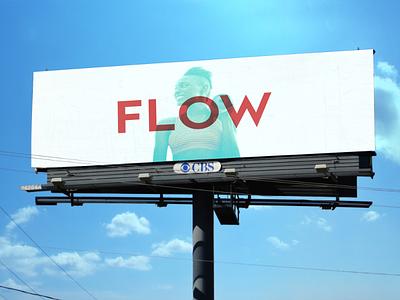 Discovery Campaign sign outside logo yoga minimal billboard