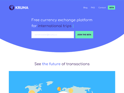 Crypto Landing page crypto purple circle button input header hero currency