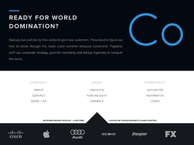 A Giant Footer black menu logo wall links logos super menu footer