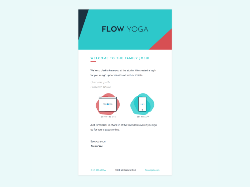 Super Simple Email Template By Josh Bolinger Dribbble Dribbble