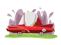 Car illustration for childrens book