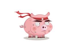 Rambo pig