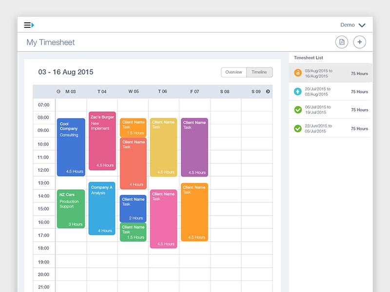 employee timesheet timeline view by vianna bao dribbble dribbble