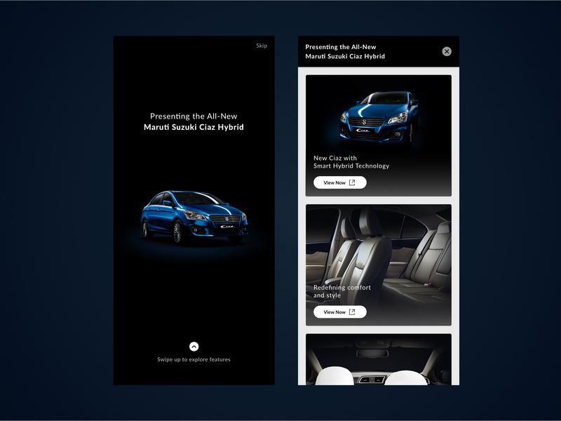MS Nexa Ciaz Hybrid Splash Screen app interaction ui design iphone x splash screen