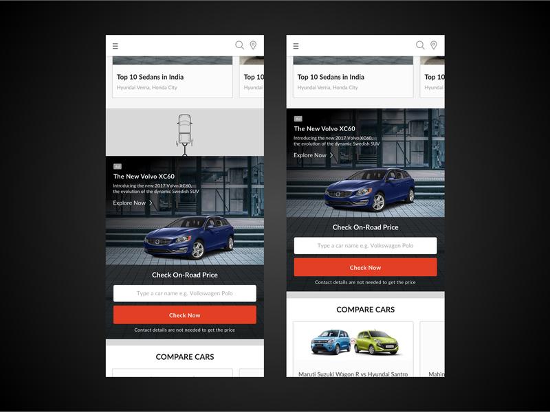 Car Sliding Property lead form slider design homepage iphone x ui design design