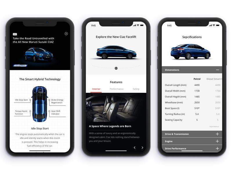 Ciaz Showcase luxury car features gallery specifications banner wallpaper 360 degree design showcase ui  ux ui deisgn