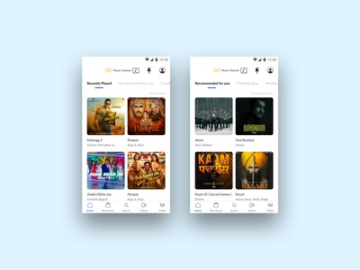 Hungama Music App Screens