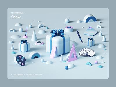 Apple- Six Days of Surprises ios octanerender octane uiux web colors isometric geometric abstract render illustration cinema4d c4d 3d ux ui design app appstore apple