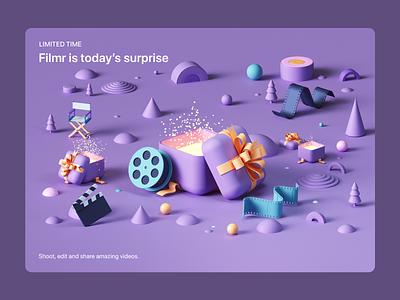 Apple- Six Days of Surprises tarka isometric webdesign octanerender octane abstract design illustration cinema4d c4d 3d ios appstore web ux uiux ui ipad iphone apple