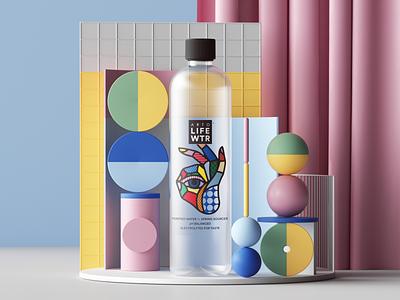 Arto Life Water web uiux ui render productdesign product pattern photoshop petertarka paper octanerender octane illustration geometric design colors cinema4d c4d abstract 3d
