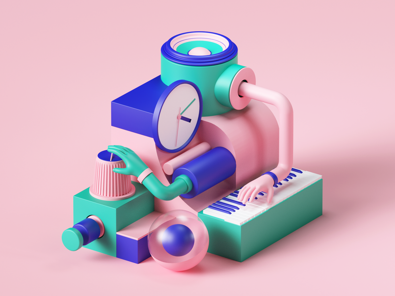 Lumi by Roli octane 3d art roli app music webdesign web uiux ui colors isometric geometric set render abstract design illustration cinema4d c4d 3d