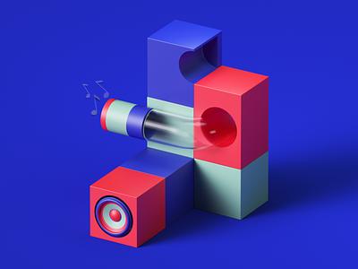 Lumi by Roli web uiux ui render set photoshop petertarka piano octanerender octane app illustration geometric music design colors cinema4d c4d abstract 3d