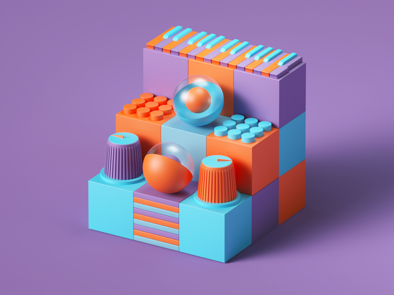 Lumi by Roli web uiux ui render set photoshop petertarka piano octanerender octane app illustration geometric music design colors cinema4d c4d abstract 3d