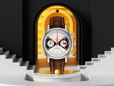 Breitling- Top Time luxury watch swissdesign render editorial photoshop petertarka layout octanerender octane space illustration geometric swiss design colors cinema4d c4d abstract 3d