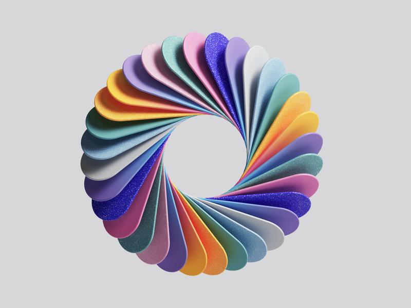 MS Office Design Explorations uiux ui studio set photoshop petertarka office render octane microsoft light illustration geometric design colors cinema4d c4d adobe abstract 3d