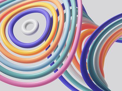 Design Explorations uiux ui studio set photoshop petertarka office render octane microsoft light illustration geometric design colors cinema4d c4d adobe abstract 3d