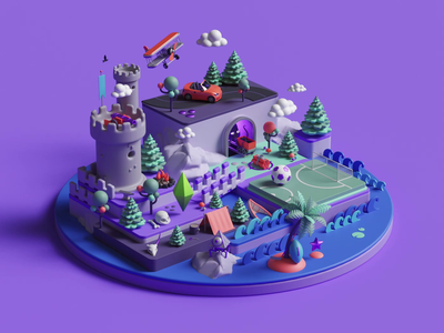 EA isometric ui web octane aftereffects adobe colors geometric abstract game gaming animation loop render branding cinema4d design illustration c4d 3d
