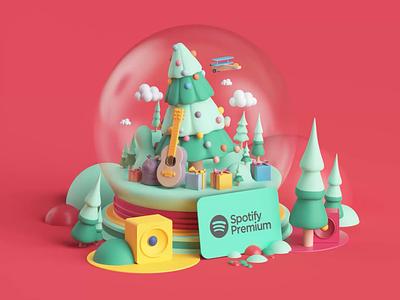 Spotify Premium Campaign apple app loop colors style tarka music spotify motion motion graphics animation branding cinema4d render design illustration c4d 3d