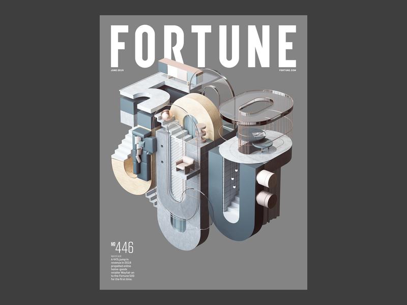 Fortune 500 commercial architecture photoshop print typography branding vector logo adobe geometry abstract geometric cinema4d cgi render set design illustration c4d 3d