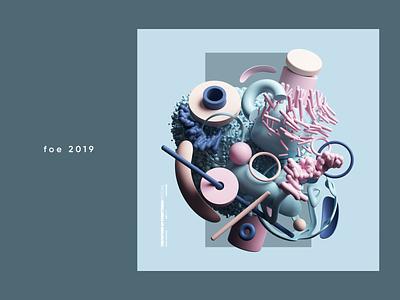 Festival Of Everything- Wall Street Journal 2019 cinema4d cgi render set design illustration c4d 3d