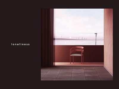 Loneliness cinema4d cgi render set design illustration c4d 3d