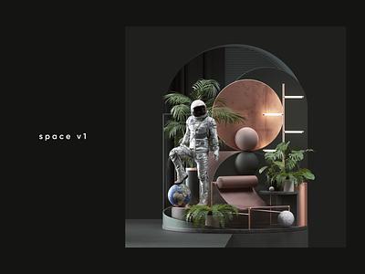 Space abstract cinema4d cgi render design illustration c4d 3d